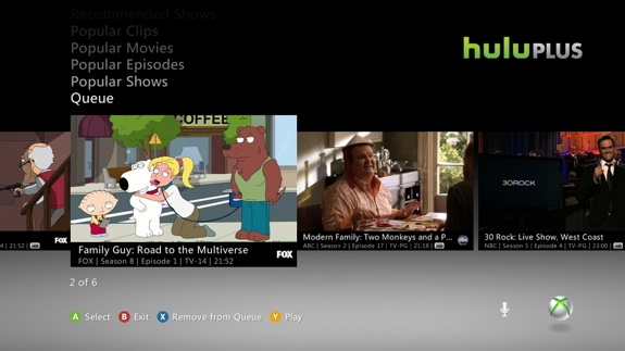 Hulu Plus Xbox 360