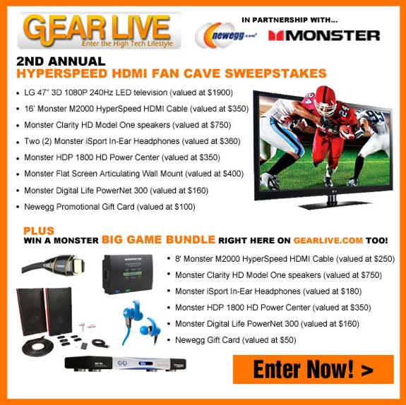 Hyperspeed HDMI Fan Cave Sweepstakes