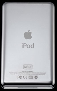 iPod from the back