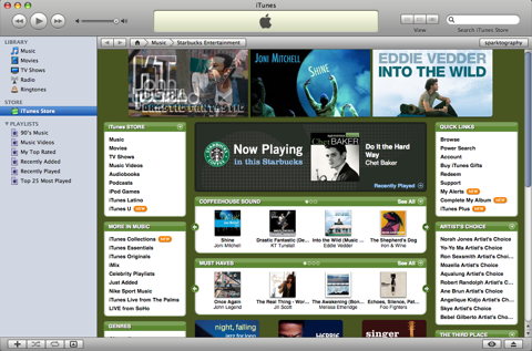 iTunes Starbucks