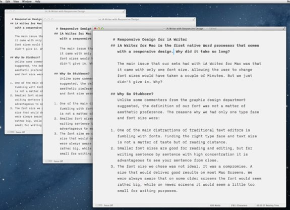 iA Writer 1.4 Mac Mountain Lion