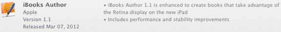 iBooks Author 1.1