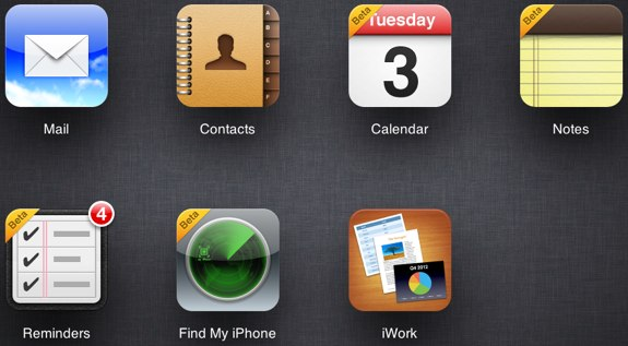 iCloud beta