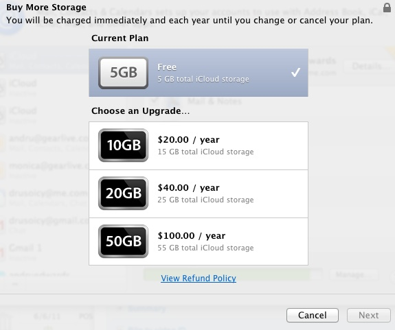 iCloud Storage Pricing