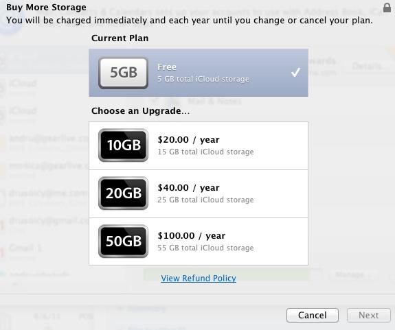 iCloud Storage Pricing