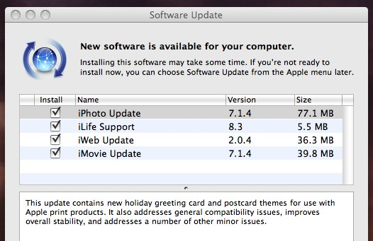 iLife 08 updates