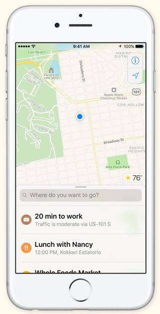 iOS 10 Maps