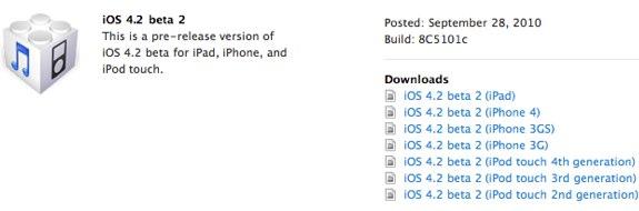 iOS 4.2 Beta 2 8c5101c