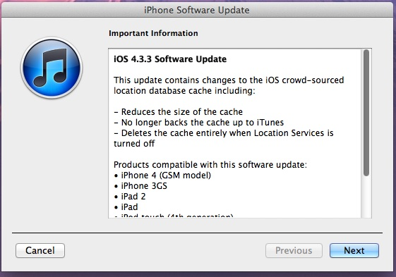 iOS 4.3.3