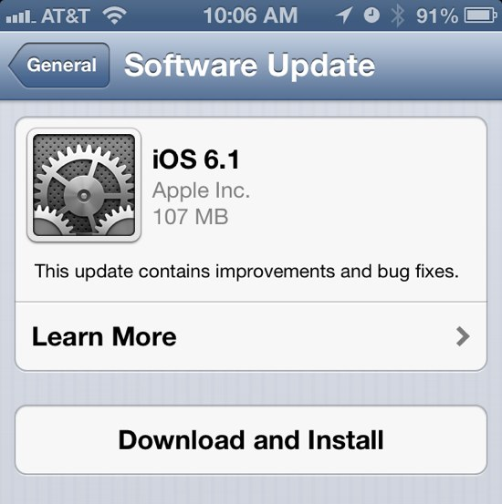 iOS 6.1