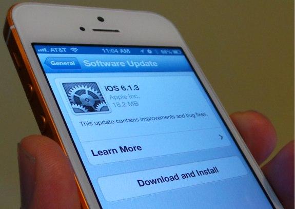 iOS 6.1.3 update details