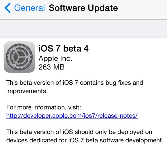iOS 7 beta 4 11A4435d download