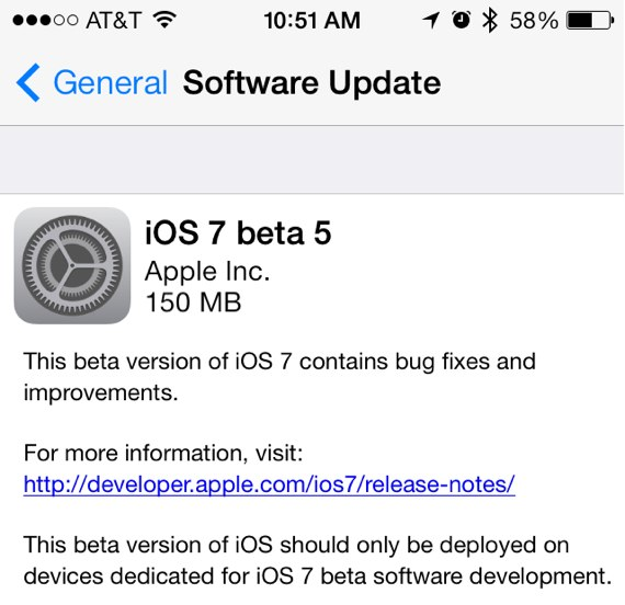 iOS 7 beta 5 11A4449a download