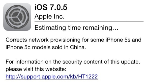 Apple iOS 7.0.5