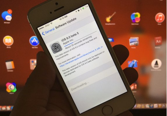 iOS 8 beta 5 download