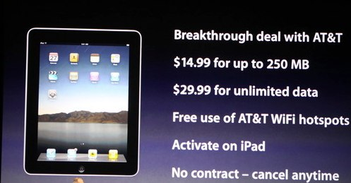 iPad AT&amp;T pricing