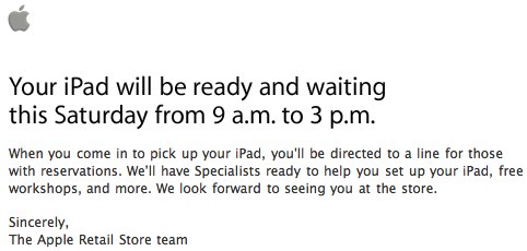 iPad In-Store Pickup