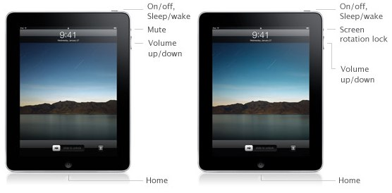 iPad screen orientation lock