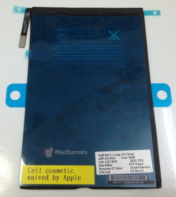 Leaked iPad Mini Battery