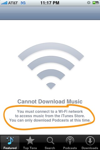 iTunes Wi-Fi Store iPhone 2.2