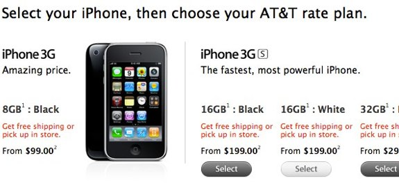 iPhone 3G discontinued