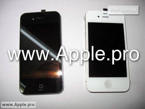 iPhone 4 white black face