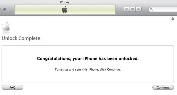 iPhone 5 iTunes unlock