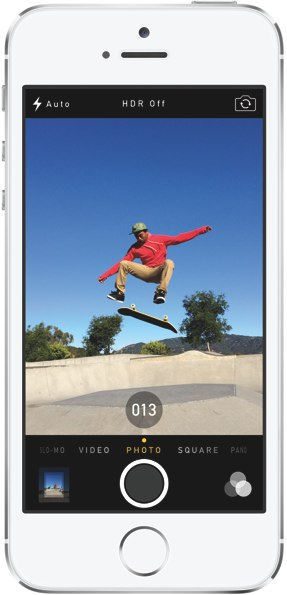 iPhone 5s camera burst mode