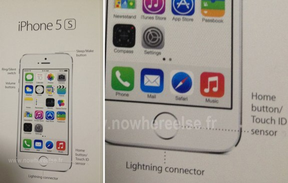 iPhone 5S Touch ID fingerprint sensor