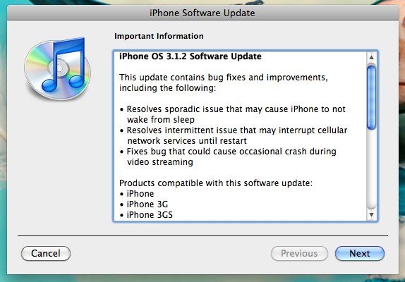 iPhone OS 3.1.2