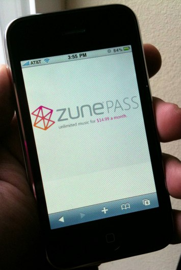 iPhone Zune Screen
