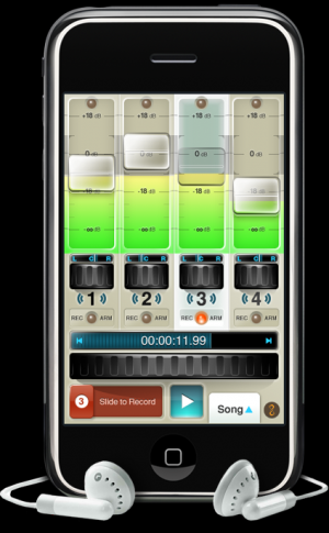 iphone four track audio recorder