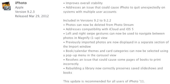iPhoto 9.2.3