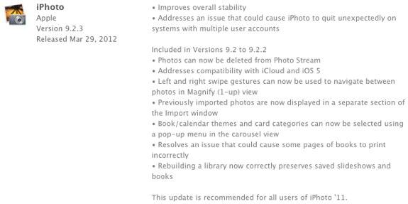 iPhoto 9.2.3