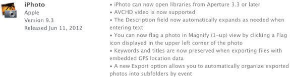 iPhoto 9.3