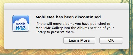 MobileMe import iPhoto galleries