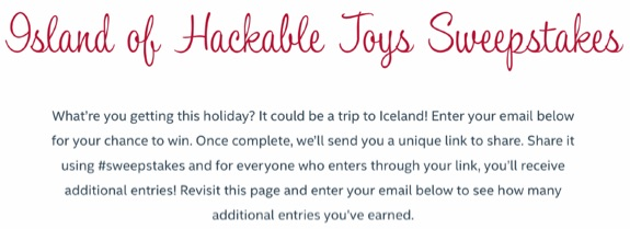 McAfee Island of Hackable Toys giveaway
