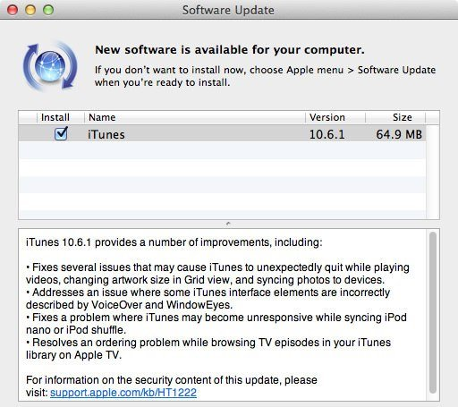 iTunes 10.6.1