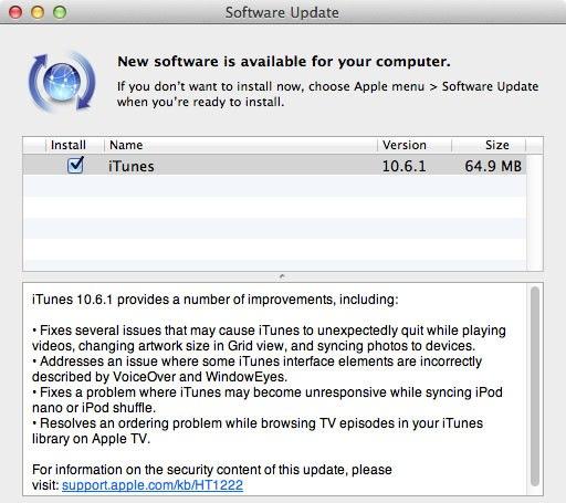iTunes 10.6.1