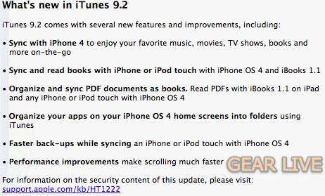 iTunes 9.2