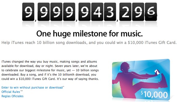 iTunes one billion songs
