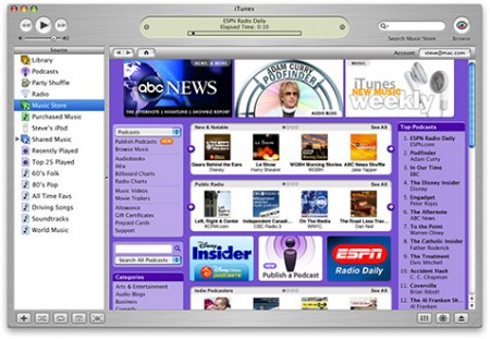 iTunes 4.9 Podcasting