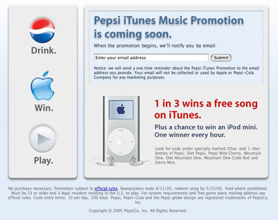 Pepsi iTunes