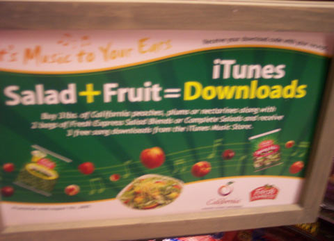 Salad+Fruit=iTunes