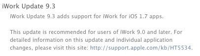 iWork update 9.3