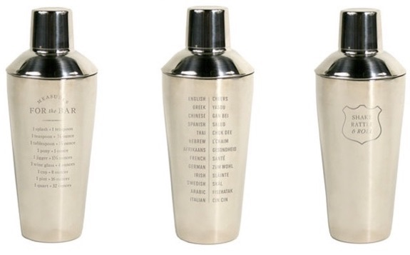 Izola measurements cocktail shaker