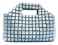 Keyboard key handbag