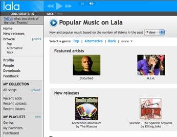 Lala.com Music Service