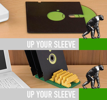 Lego Floppy Disc Holder