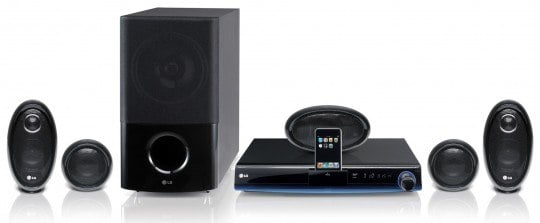LG HB954SP HTIB Blu-ray system features iPod and iPhone dock